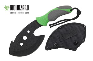 "12"" Wartech Mini Hatchet Zombie Green Edition H-801-GN"