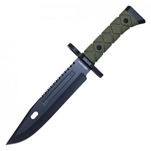 """STEALTH "" 14-3/8 inch long Hunting Knife with hard sheath"