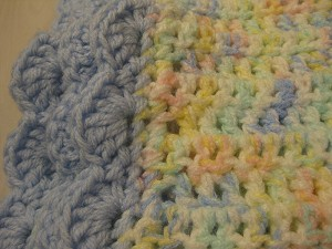 Car seat Blanket -Hand Knit USA yarn