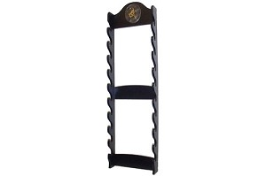 10 Sword Katana Wall Stand - With Asian Symbol