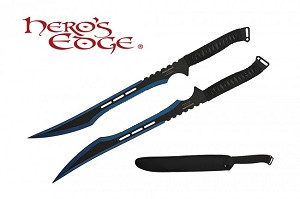 Secret Agent Tactical Ninja Sword-TWO TONED a set of 2 swords BLUE