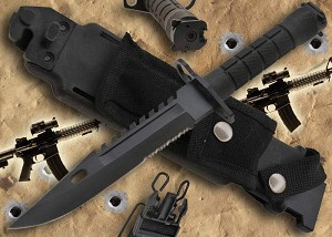 M9 Bayonet For AR15 Black