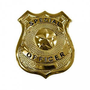 Special officer badge- gold