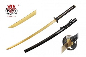 Onikiri Electric Gold Handmade Katana 1045 Steel