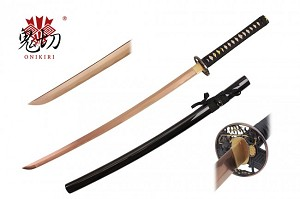 Onikiri Electric Rose Gold Handmade Katana 1045 Steel