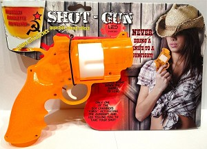 RUSSIAN ROULETTE REVOLVER DRINKING GAME ORANGE
