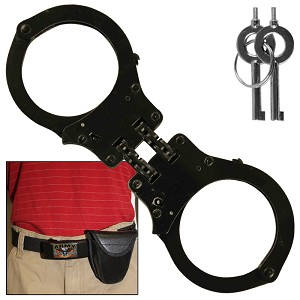 Busted High Security Authentic Double Hinged Handcuff Black