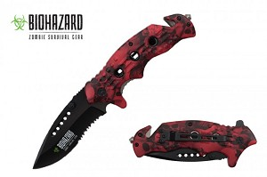 "8"" Assisted open folding knife  with two tone blade color"